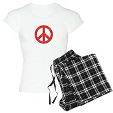 Flannel Peace Sign Pajamas