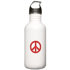 Flannel Peace Sign Water Bottle
