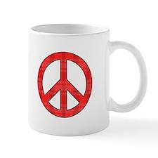 Flannel Peace Sign Mug