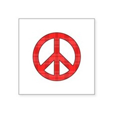 Flannel Peace Sign Sticker