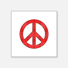Flannel Peace Sign Sticker