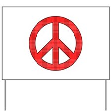 Flannel Peace Sign Yard Sign