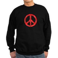 Flannel Peace Sign Sweatshirt