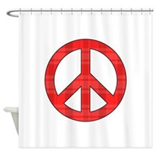 Flannel Peace Sign Shower Curtain