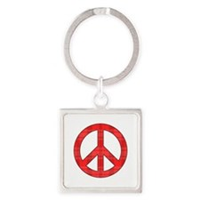Flannel Peace Sign Keychains