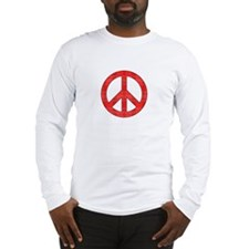Flannel Peace Sign Long Sleeve T-Shirt