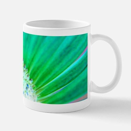 Green flower centre Mugs