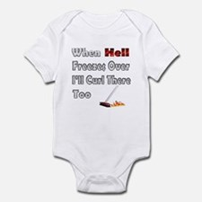 When Hell Freezes... Infant Bodysuit