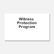 Witness Protection Program Car Magnet 20 x 12