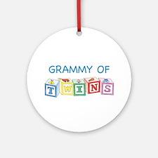 Grammy of Twins Ornament (Round)