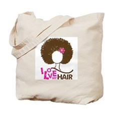 I Love My Hair Tote Bag