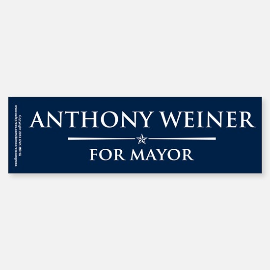 Vote Anthony Weiner Sticker (Bumper)