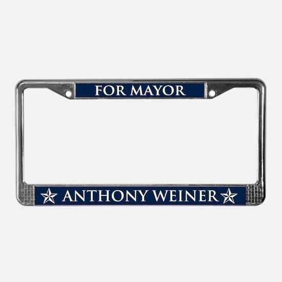 Vote Anthony Weiner License Plate Frame