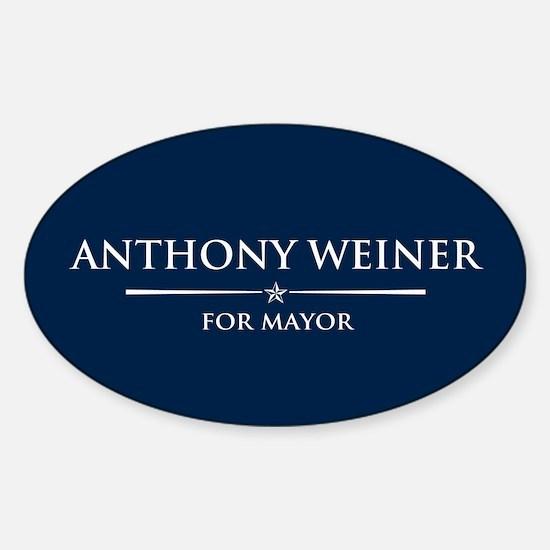 Vote Anthony Weiner Sticker (Oval)
