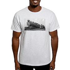 Locomotive Black & White Trains T-Shirt