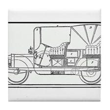 Classic Antique Touring Automobile Tile Coaster