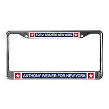 Elect Anthony Weiner License Plate Frame