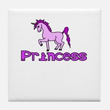 princess unicorn Tile Coaster