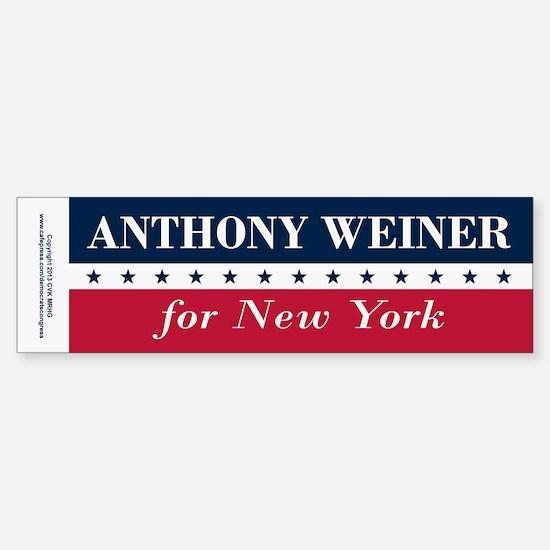 Anthony Weiner for NYC Sticker (Bumper)