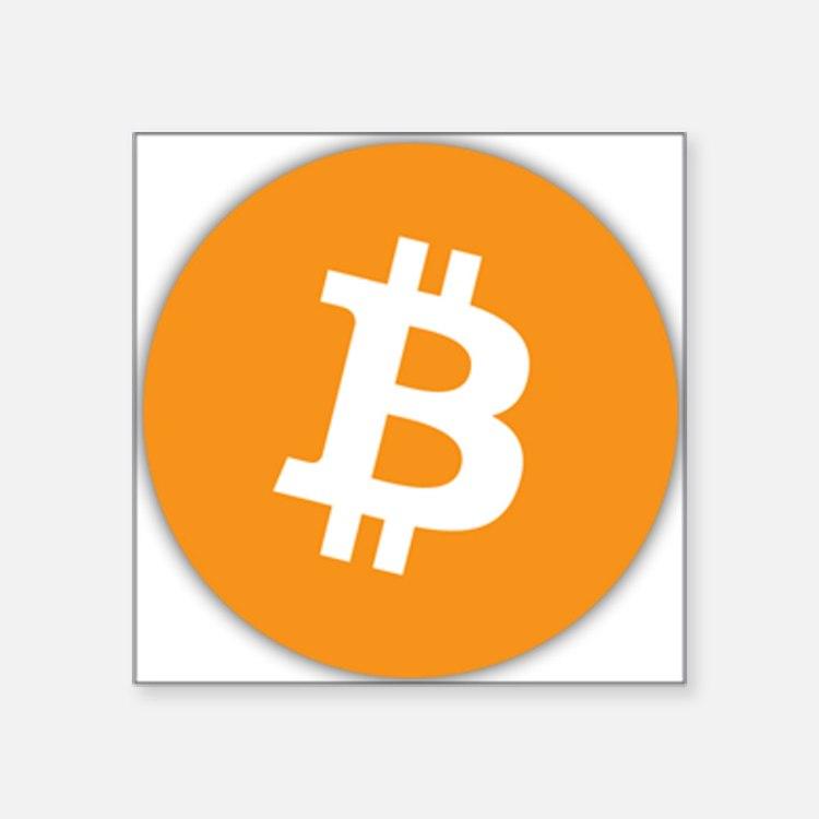 """Bitcoin Square Sticker 3"""" x 3"""""""