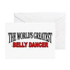 """""""The World's Greatest Belly Dancer"""" Greeting Cards"""