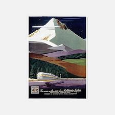 California Zephyr, Vintage Poster 5'x7'Area Rug