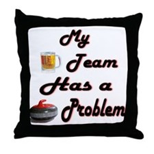 My Drinking Team... Throw Pillow