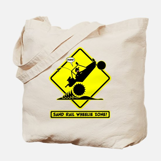 SAND RAIL Wheelie Road Signs Tote Bag