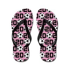 Soccer Ball Player Number 20 Flip Flops