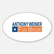 Elect Anthony Weiner OB Sticker (Oval)