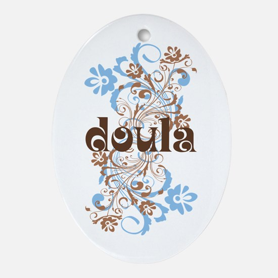 Doula Gift Ornament (Oval)