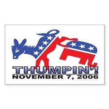 Thumpin' 2006 Election Rectangle Decal