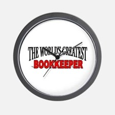 """""""The World's Greatest Bookkeeper"""" Wall Clock"""