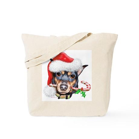 Min Pin Christmas Tote Bag