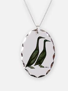 Black Runner Ducks Necklace