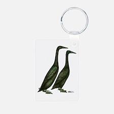 Black Runner Ducks Keychains