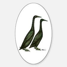 Black Runner Ducks Decal
