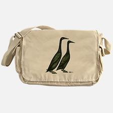 Black Runner Ducks Messenger Bag