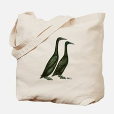 Black Runner Ducks Tote Bag