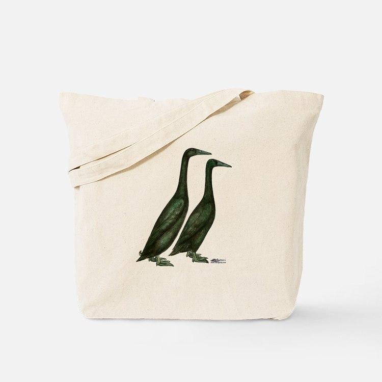 Black Runner Ducks Tote Bag