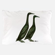 Black Runner Ducks Pillow Case