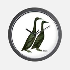 Black Runner Ducks Wall Clock