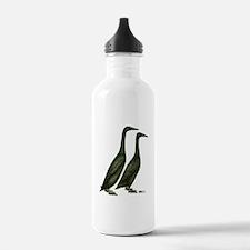 Black Runner Ducks Water Bottle