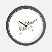 Grateful For Growth Wall Clock