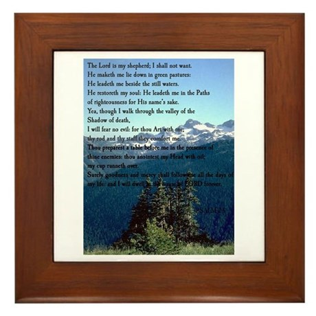 Psalm 23 Framed Tile