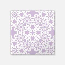"""African Violet & White Lace Tile Square Sticker 3"""""""