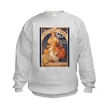 Mucha Chocolate Art Nouveau Label Sweatshirt