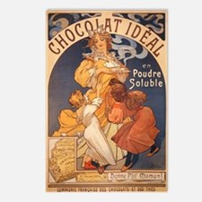 Mucha Chocolate Art Nouveau Label Postcards (Packa