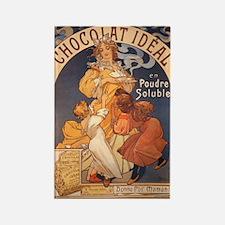 Mucha Chocolate Art Nouveau Label Rectangle Magnet