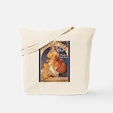 Mucha Chocolate Art Nouveau Label Tote Bag